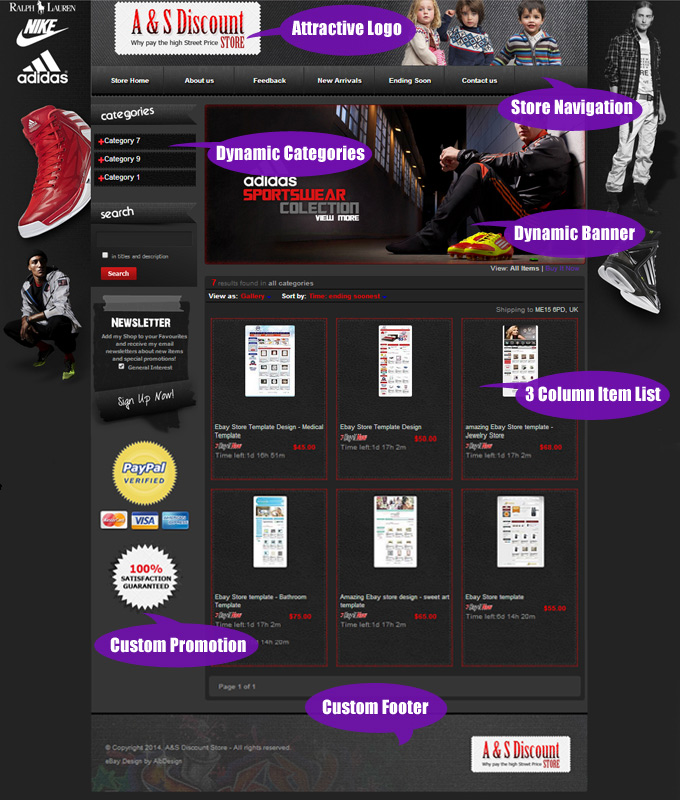 Wibzo EBay Templates EBay Store And Listing Design - Custom ebay store template
